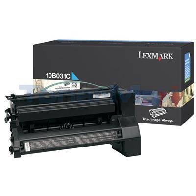 LEXMARK C750 PRINT CART CYAN